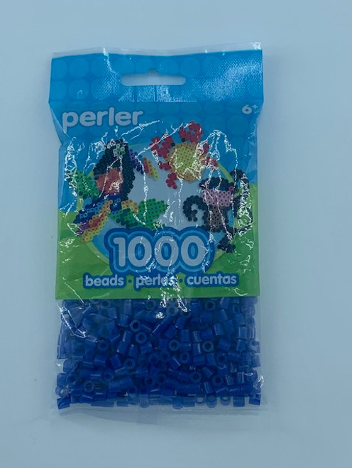 DARK BLUE PERLER BEAD BAG 1000
