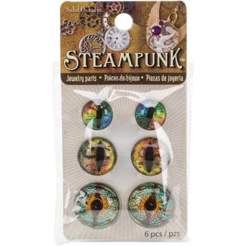 Dragon Eyes Brights Steampunk Acrylic Accents 6/Pkg