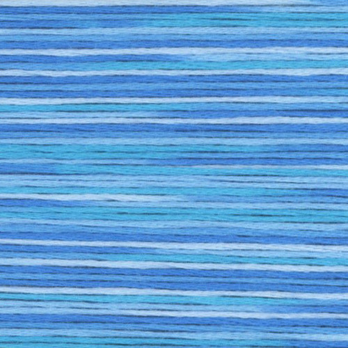 Blue Cosmo Seasons Variegated Embroidery Floss