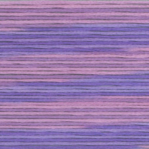 Purple Violet Cosmo Seasons Variegated Embroidery Floss