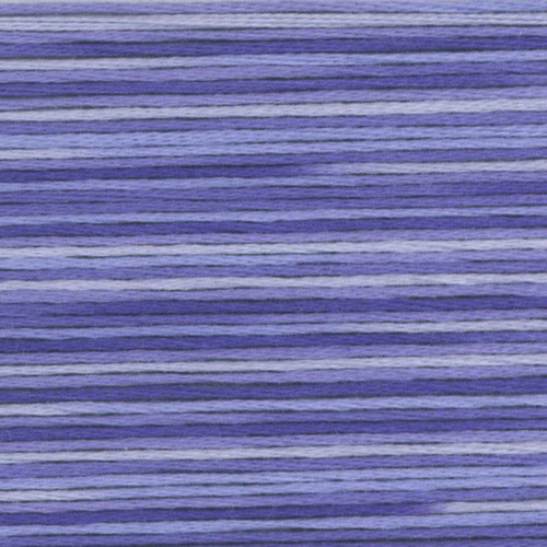 Periwinkle Cosmo Seasons Variegated Embroidery Floss