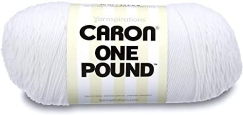 WHITE CARON ONE POUND YARN