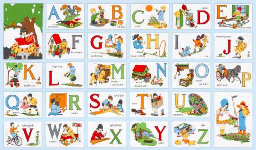 Vintage My ABC Book Panel 1930's Reproduction