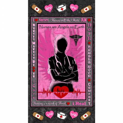 Pink Nurse Panel, 24in x 44in