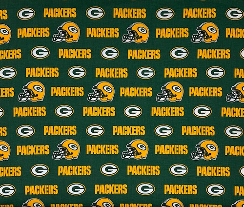 Green Green Bay Packers Cotton 60in