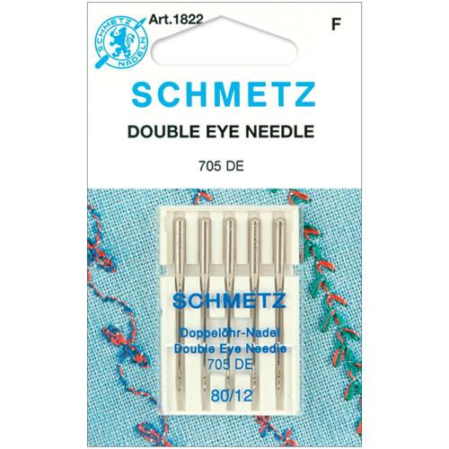 Schmetz Double Eye Machine Needles 12/80