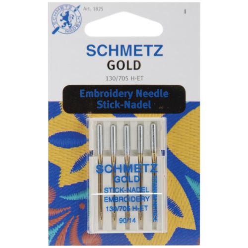 Schmetz Gold Stick-Nadel Embroidery 90/14