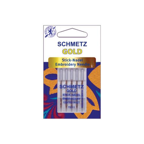 Schmetz Gold Stick-Nadel Embroidery 75/11