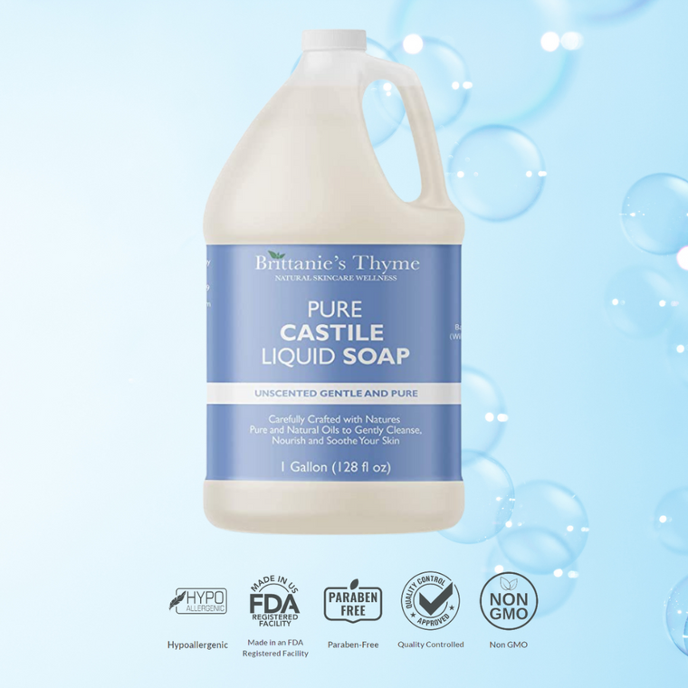 Pure Castile Hand and Body Soap Unscented