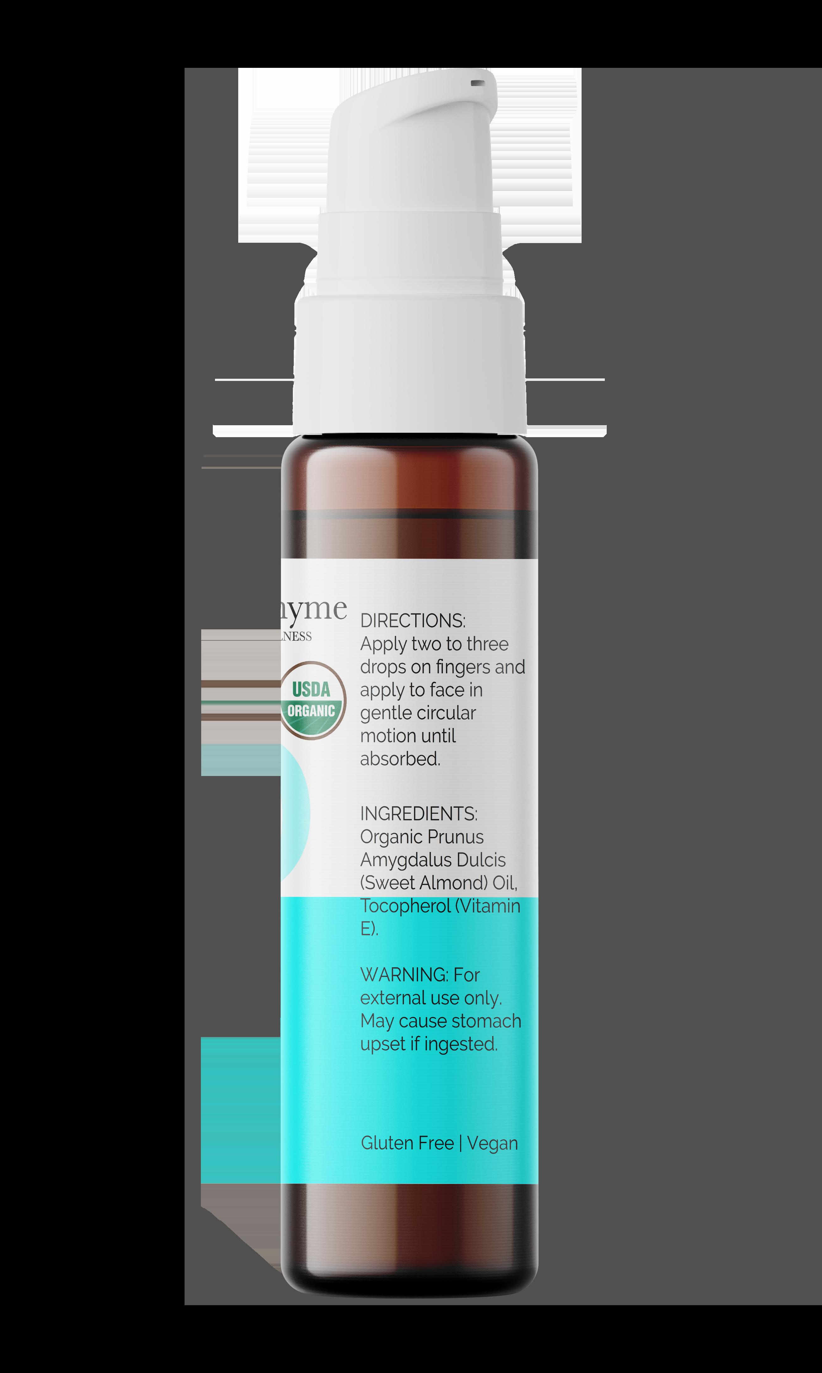 Organic Sweet Almond Skin Care Oil with Vitamin E