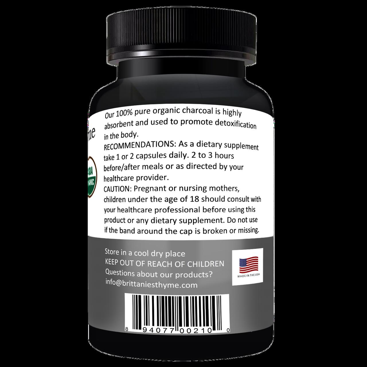Organic Charcoal Capsules