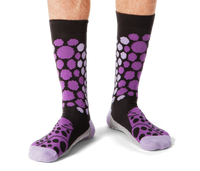 Cheetah Pattern Purple Men's Socks