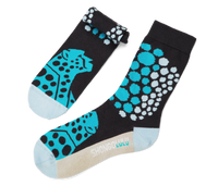 Cheetah Pattern Teal Men's Socks