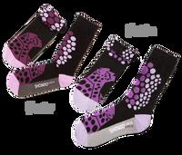 His & Her's Sock Set - Cheetah Purple