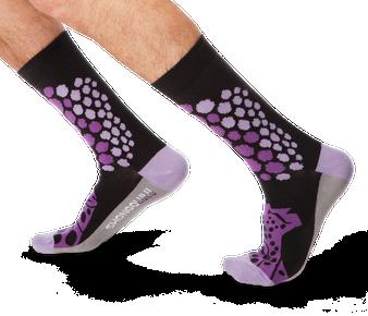 Cheetah Pattern Purple Men's Socks