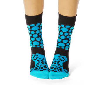 Cheetah Pattern Teal Socks