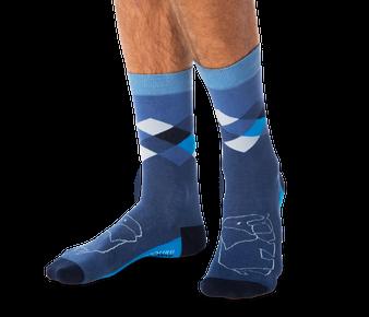 Elephant Argyle Socks