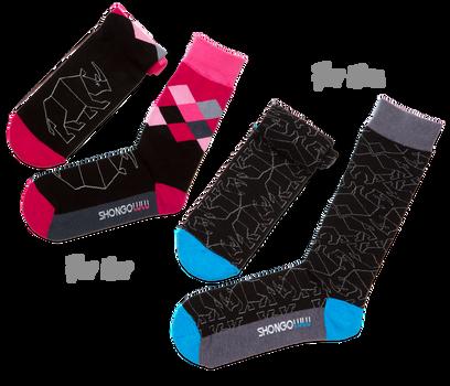 His & Her's Sock Set - Black Rhino