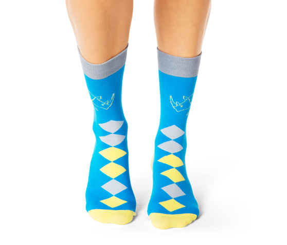 Rhino Diamonds Socks