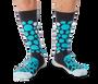 Cheetah Pattern Teal Men's Socks