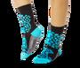 Cheetah Pattern Teal Socks