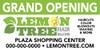 10'x4' Outdoor Banner – GRAND OPENING – Lemon Tree