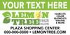 10'x4' Outdoor Banner – CUSTOM TEXT – Lemon Tree