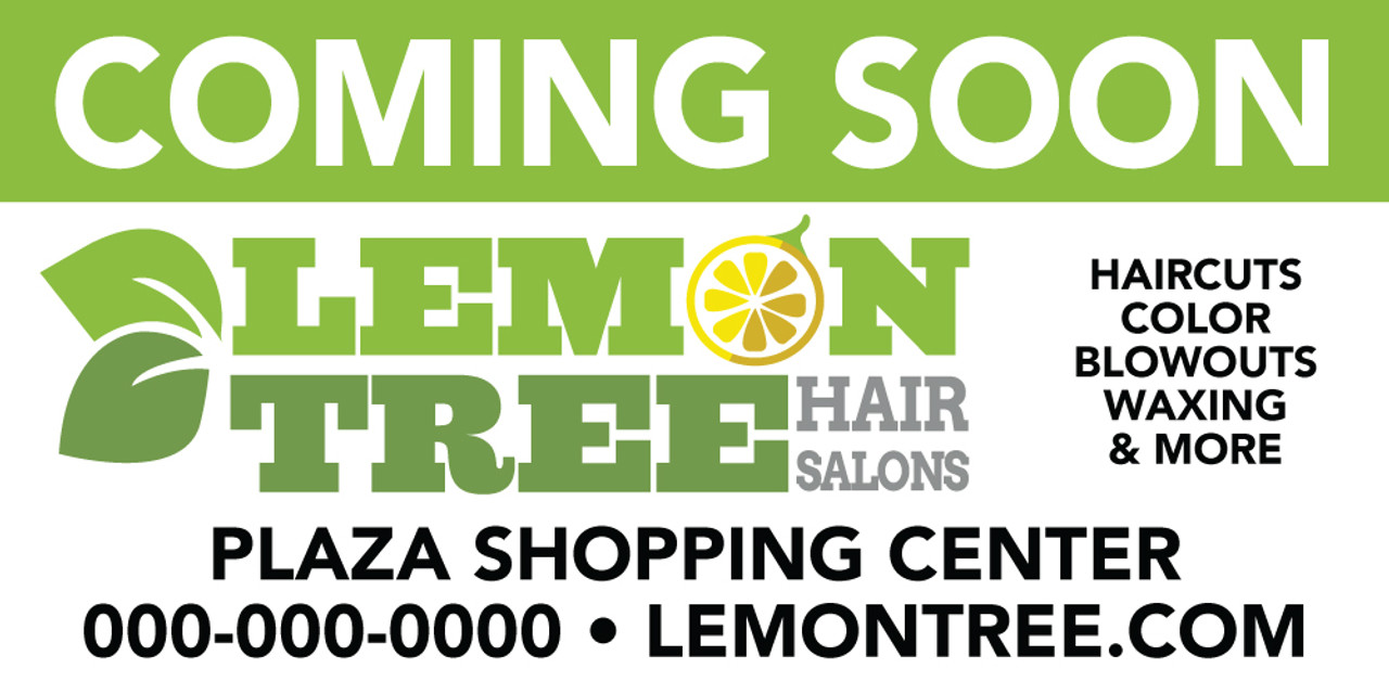 10'x4' Outdoor Banner – COMING SOON – Lemon Tree