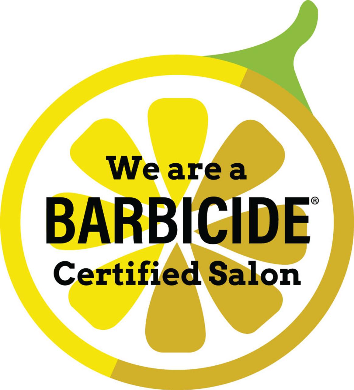 "12"" Outdoor Window Sticker – Barbicide – Single Sided"