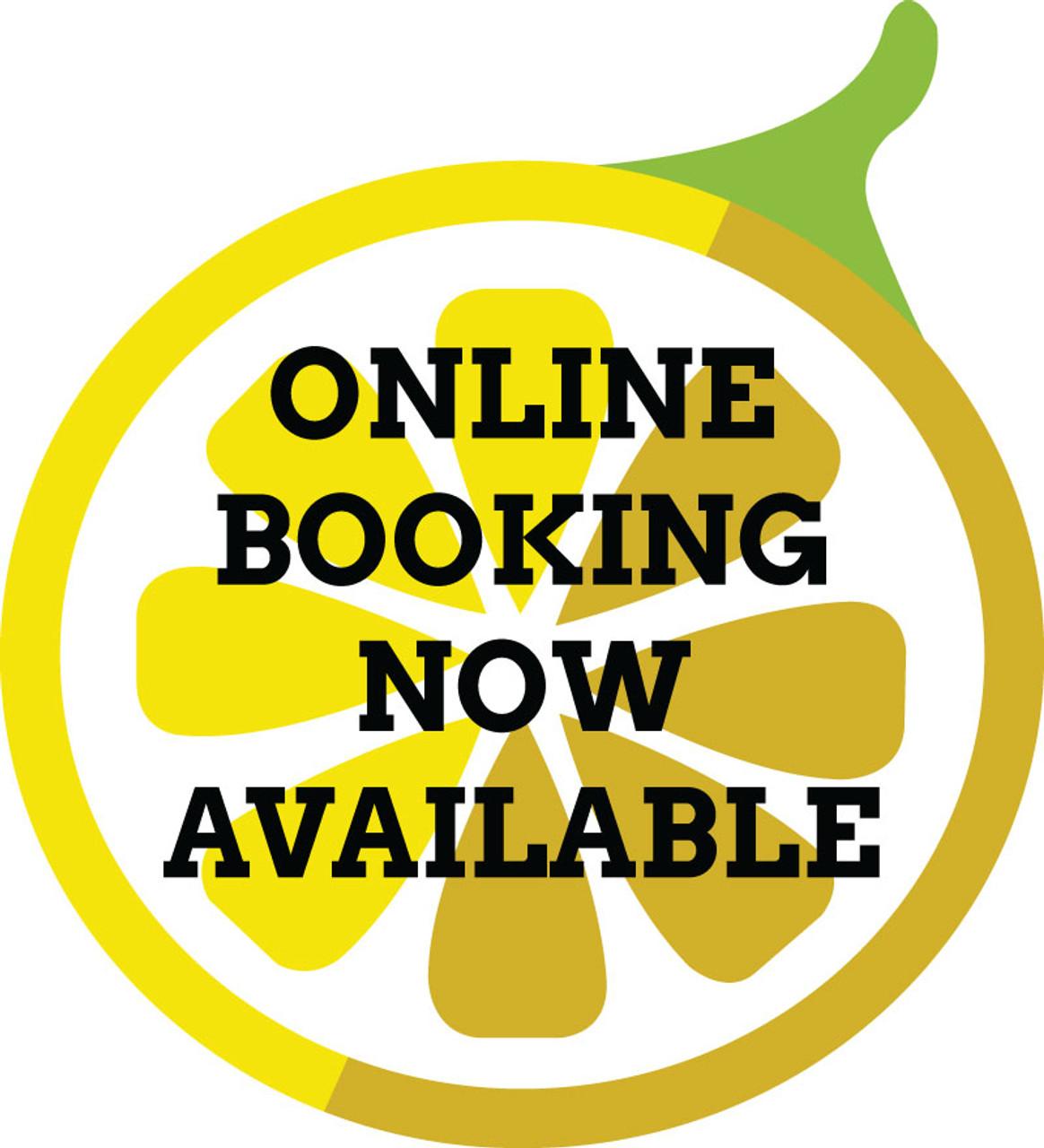 """20"""" Outdoor Window Sticker – Online Booking – Single Sided"""