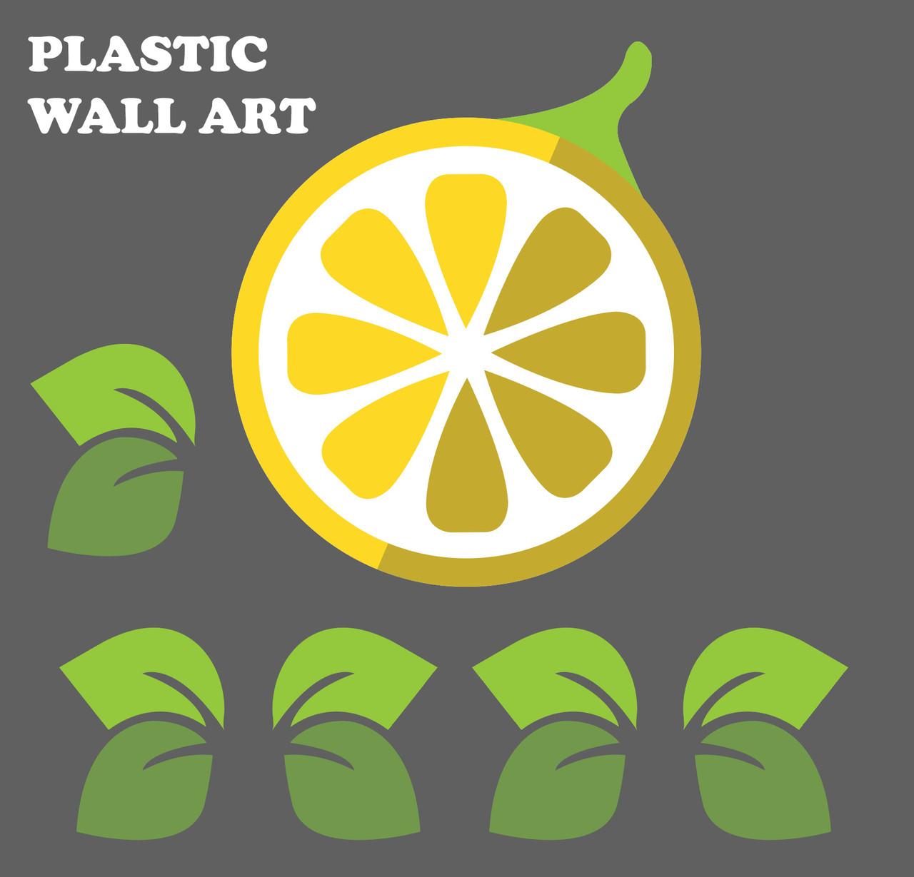 Large LemonTree Styrene (Plastic) Wall Art Set
