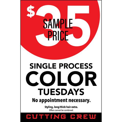 "24""x36"" Window Sign – Cutting Crew"