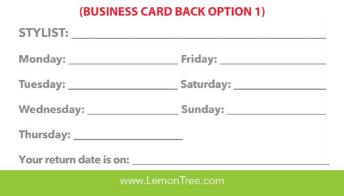 Personalized Business Cards – Lemon Tree