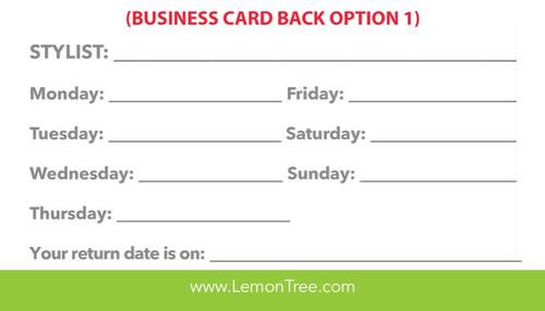 Generic Store Info Business Cards – Lemon Tree