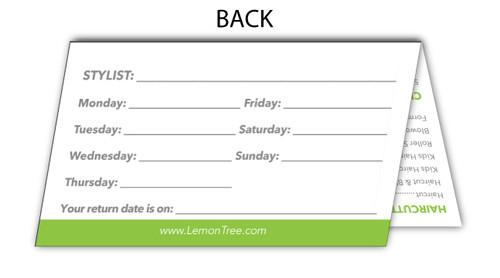 Generic Store Info Fold-Over Business Card – Lemon Tree