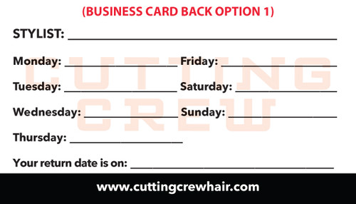 Generic Store Info Business Cards – Cutting Crew