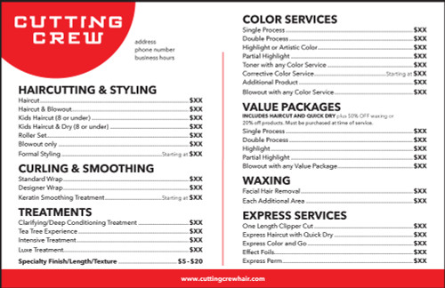 "8.5""x5.5"" Flyer – 2 Features – Cutting Crew"