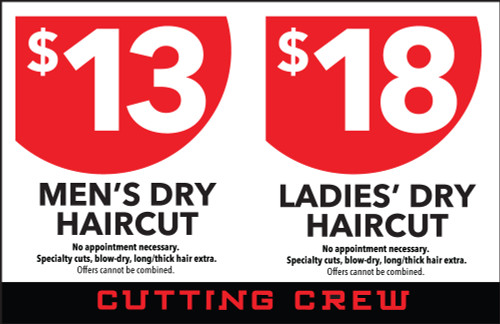 """8.5""""x5.5"""" Flyer – 2 Features – Cutting Crew"""