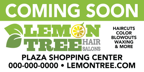 6'x3' Outdoor Banner – COMING SOON – Lemon Tree