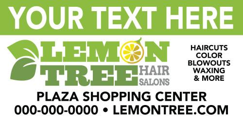 6'x3' Outdoor Banner – CUSTOM TEXT – Lemon Tree