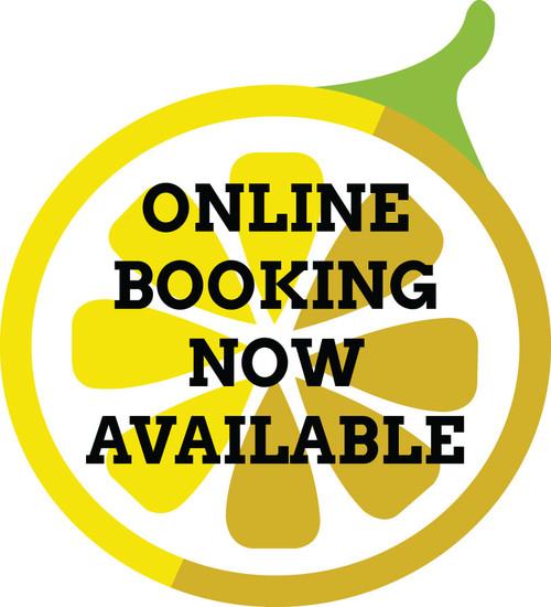 """12"""" Outdoor Window Sticker – Online Booking – Single Sided"""