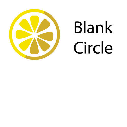 "8"" Floor Decals – Blank – Lemon Tree"