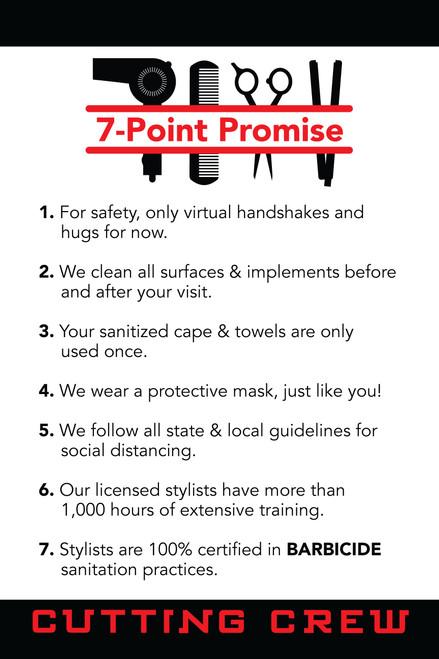 "24""x36"" Window Sign – 7 Points –Cutting Crew"