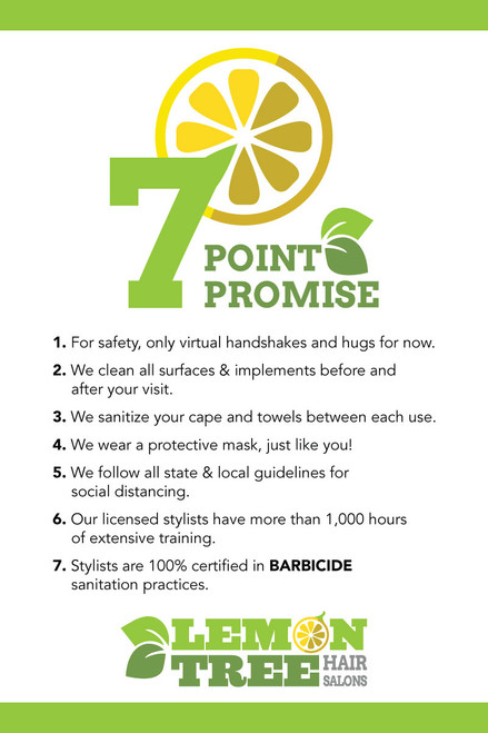"24""x36"" Window Sign – 7 Points –Lemon Tree"