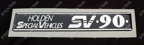 SV90 Holden Special Vehicles Boot Garnish Badge Insert