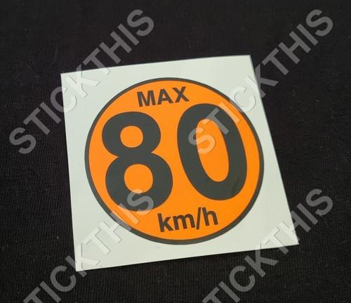 Temporary Spare  Wheel Max 80km/h Decal - VT-VZ