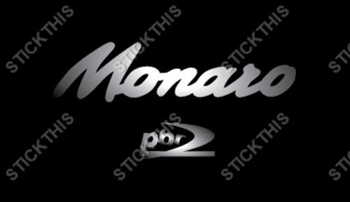 "V2 VZ ""Monaro PBR"" Brake Caliper Decals x2 - Silver"