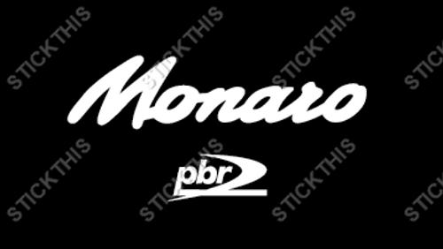 """V2 VZ """"Monaro PBR"""" Brake Caliper Decals x2 - White"""