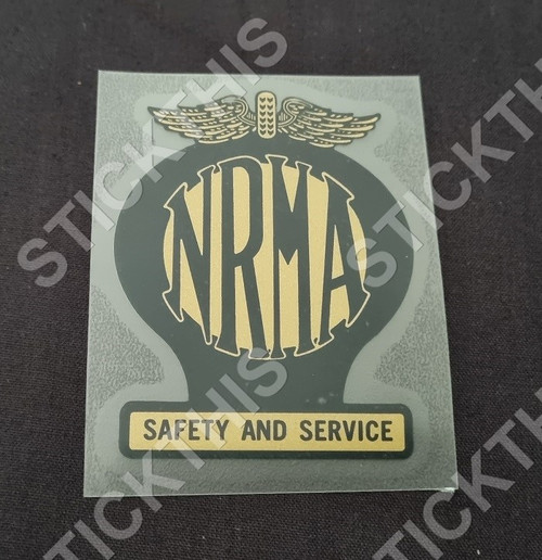 NRMA Safety and Service Window Decal