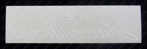 Air Conditioned Rear Window Decal - HQ-WB and LH LX